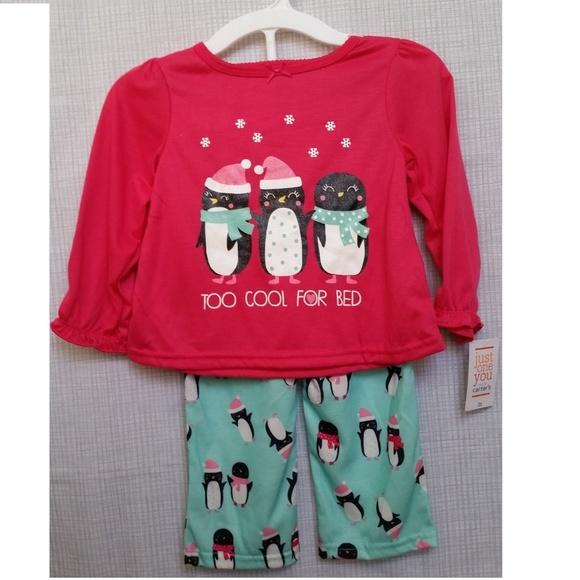 7588f5a776 Penguins 2 piece toddler girl fleece pajama size2T